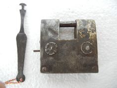 Old Hand Forged Big Iron Tricky Puzzle Pad Lock