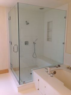 Clear glass shower door with polished chrome hardware prl offers frameless shower system with polished chrome hardware our frameless shower door units are completely designed planetlyrics Images