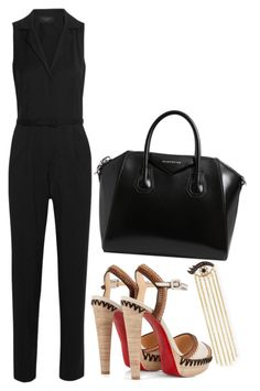 """""""Untitled #957"""" by gabbyriera on Polyvore featuring Sydney Evan, Equipment, Christian Louboutin and Givenchy"""