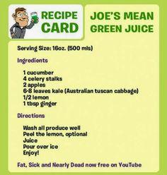 Mean Green Juice Recipe.