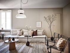 Home Interior Decoration Ideas Beige Living Rooms, Beautiful Living Rooms, Living Room Decor, Living Room Inspiration, Interior Inspiration, Scandinavian Apartment, Scandinavian Style, Décor Boho, Interior Decorating