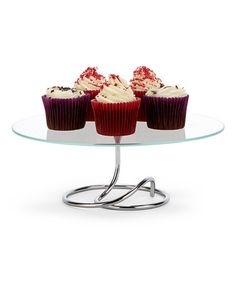 Loving this Silver Looped Cake Stand on #zulily! #zulilyfinds