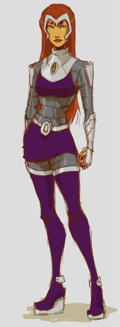 Starfire armor by seraphatonin on DeviantArt