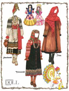 Folk Costumes of Old Russia