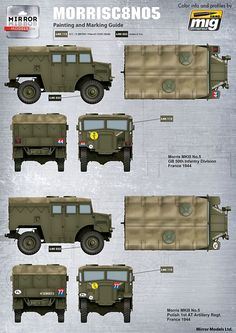 MIRROR MODELS 35400 - 1:35 British Morris C8 Quad Mk.III No.5 British Army, British Tanks, Camouflage Patterns, Army Vehicles, Military Art, Warfare, World War Ii, Scale Models, Ww2