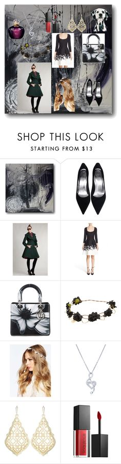 """The Classic Combination (black + white = perfection)"" by jujubee-964 on Polyvore featuring Carolina Herrera, Christian Dior, ASOS, BERRICLE, Kendra Scott and Smashbox"