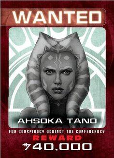 Jedi Hunt Insert Card #8 - Ahsoka Tano - from Topps Star Wars Chrome Perspectives: Jedi vs. Sith!
