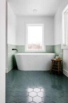 Ordinaire Our Modern Master Bath That Envokes Lake Michigan And Scandinavian  Farmhouse Style. A Little Bit