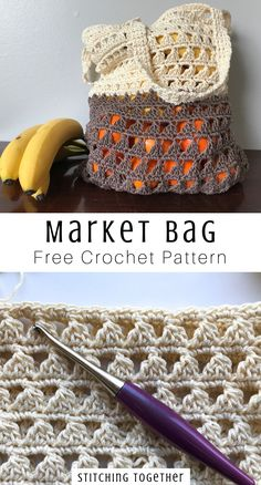 Make your farmer's market trip a little more DIY with this crochet farmer's market bag pattern.