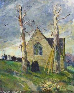 """Simon Lucien Jules,   """"Chapelle à Sainte-Marine"""