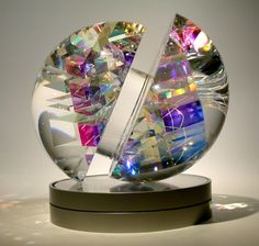 Toland Sand is a creator of cold-worked glass sculpture Art Of Glass, Blown Glass Art, Glass Artwork, Stained Glass Art, Mosaic Glass, Jack Storms Glass, Cold Worked Glass, Sand Glass, Glass Paperweights