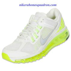 Nike Air Max 2013 Womens Summit White Reflect Silver Volt 555363 107