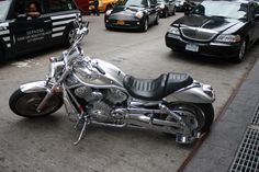 V-Rod Harley Davidson just sitting on a street in Manhattan, Awesome!