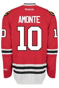 Chicago Blackhawks VINTAGE Tony AMONTE #10 *C* Official Home Reebok Premier Replica NHL Hockey Jersey (HAND SEWN CUSTOMIZATION)