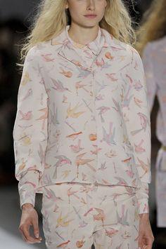 lovely birds - Jill Stuart S/S 2012 (details)