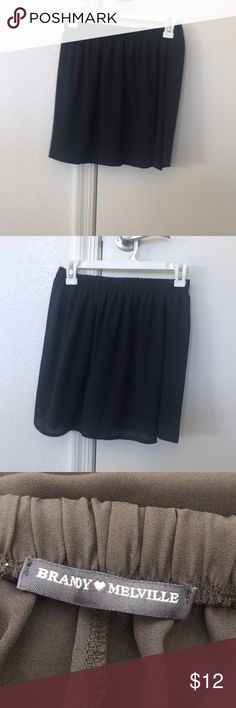 Brandy Melville Black Skirt -One Size Brandy Melville Black Mini Skirt. One Size Fits All. 100% Rayon Brandy Melville Skirts Mini