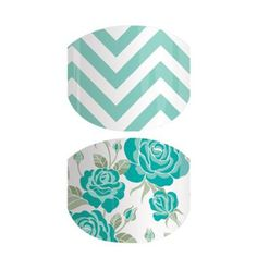 Mint To Be | Jamberry A Junior-sized pairing of our Mint Green Chevron and Destiny designs.
