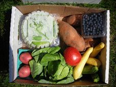"""The Produce Box - We deliver locally grown, farm-fresh produce and products to your door every week during our North Carolina growing season. We are committed to working with North Carolina farmers only (the main reason we started the program) , and don't ship in products from other states or countries. Join us and become part of our """"community of families"""" who enjoy delicious fruits and vegetables, eat healthier each week and support our farm neighbors."""