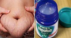Con la ayuda de el Vick Vaporub ustedes podrán deshacerse de la grasa del vientre, de la celulitis y de las estrías ; espero que les sirva mucho!