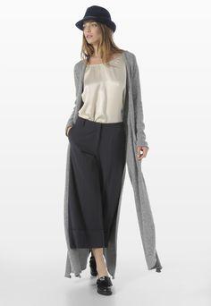 LONG FLARED CARDIGAN - Knitwear - Woman | Stefanel