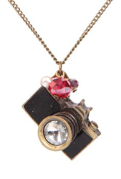 Gold Camera Chain Necklace - Sheinside.com