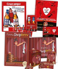 diseño de varias campañas para Cruzcampo #diseño #capaña #promociones #collarines #packaging de producto