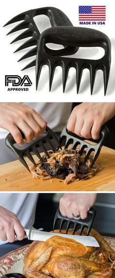 Kitchen Claws -- These are so simple yet superbly helpful! Use them to shred meat and to lift, carve and handle hot food. #kitchen gadget#gearbest