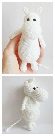 Crochet Moomin Hippo Amigurumi Free Pattern