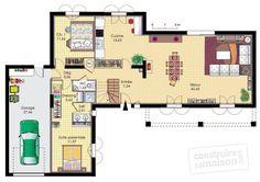 Plan habillé Rdc - maison - Une bastide moderne