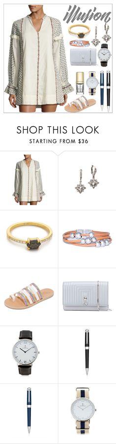 """Printed Tunic Dress"" by camry-brynn ❤ liked on Polyvore featuring Tularosa, Oscar de la Renta, Samantha Wills, Ancient Greek Sandals, Fendi, Kapten & Son, Montegrappa and Dolce&Gabbana"