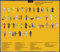 Star Wars The Force Awakens Toy line, retro back card.