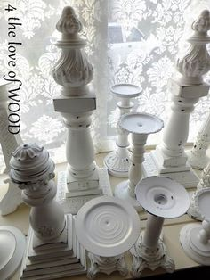 4 the love of wood use finials painted white