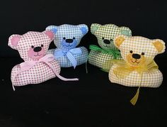 Free teddy bear pincushion pattern