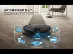 Ecovacs Deebot Ozmo T8 AIVI Robot Vacuum & Mop, Smart Objection Recognit... Best Cheap Vacuum, Best Vacuum, Robot Videos, Backpack Vacuum, Mopping Floors, Hoover Vacuum, Futuristic Technology, Motion Design, Packaging