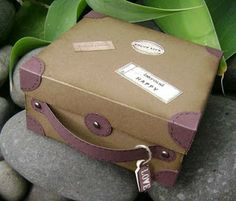Suitcase Box      Oh did I have fun with this project! I saw a magazine picture of a box that had the box with corner bits on it and t...