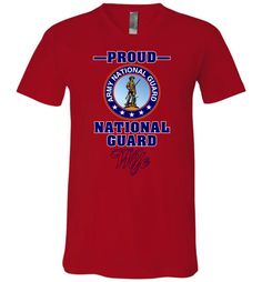 Proud U.S. Army National Guard Wife Unisex V-Neck T-Shirt