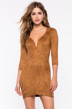 #SALE Bodycon Dresses | Super Suede Bodycon Dress | Shop the #SALE at #A'GACI