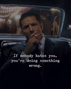 Positive Quotes : QUOTATION – Image : Quotes Of the day – Description If nobody hates you, you're doing something wrong. Sharing is Power – Don't forget to share this quote ! Daily Quotes, Great Quotes, Me Quotes, Motivational Quotes, Inspirational Quotes, Manga Quotes, Quotable Quotes, Bible Quotes, Qoutes