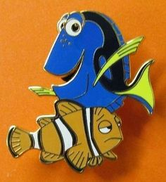#disney Disney Pin Pixar's Booster Finding Nemo - Dory & Marlin please retweet