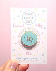 Vintage Polly Pocket Inspired Shell Enamel Pin by TinyGreyCat