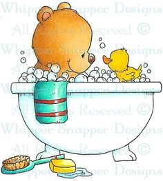 Dog Rubber Stamps | Teddy Bear Bath - Fall/Winter 2013 - Rubber Stamps - Shop