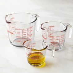 Anchor Hocking Glass Measuring Cups - Everyday essentials for cooking and baking, these sturdy glass measuring cups are American kitchen classics.