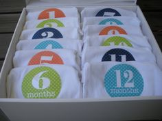 12 Month Onesies baby shower gift