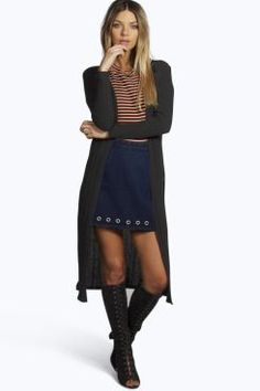 Erin Rib Knit  Midi Cardigan