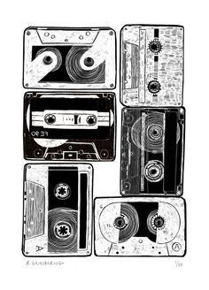 """Cassette Tapes"" by Rosie Gainsborough"
