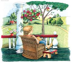 relaxing on the porch ... Mary Englebreit