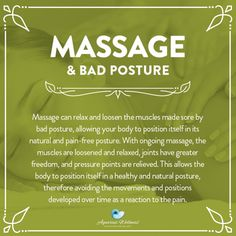 Therapeutic massage can be very beneficial for correcting bad posture. If you work at a desk all day, then consider the benefits of massage therapy for improving and correcting neck alignment.