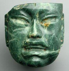 Mascara de jade-siglos X al VI BC-Olmeca- México