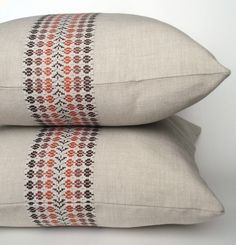 vintage Scandinavian fabric pillow cases