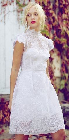 White lace dress - would be cute for a rehearsal dinner
